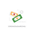crowdsourcing business recources concept line vector image