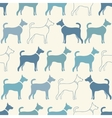 Cute doodle seamless pattern of dog silhouettes vector image vector image