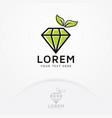 diamond logo design vector image vector image