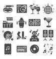 disco club or night club icons vector image