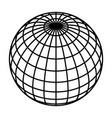 earth planet globe grid of black thick meridians vector image vector image