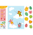 education paper game for children animals vector image vector image