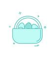 egg easter eggbasket icon design vector image vector image