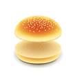 Empty hamburger isolated on white vector image vector image