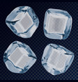 falling ice cube or icy blocks for background vector image