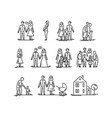 family development stages parents and children vector image