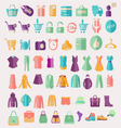 fashion clothing and Shopping related icon vector image vector image