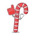 foam finger candy canes mascot cartoon vector image vector image