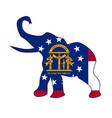 georgia republican elephant flag vector image vector image