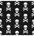 halloween pattern skull and bones vector image vector image