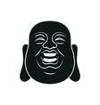 head fat buddha isolated vector image