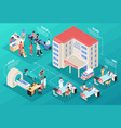 Hospital isometric composition