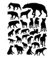 hyena animal detail silhouette vector image vector image