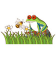 isolated picture green frog vector image vector image