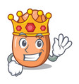 king broken egg isolated on the mascot vector image