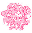 lace ornamental decoration with flowers vector image vector image