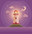 lighthouse on the coast of sea vector image vector image