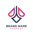 marketing and financial business logo design vector image vector image