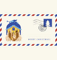 mary and jesus adoration magi envelope vector image vector image