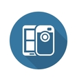 Mobile Photo Blogging Icon Flat Design vector image