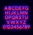 neon red blue gradient font vector image vector image