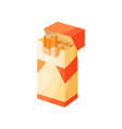 opened pack of cigarettes icon related to smoking vector image