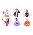 people using smartphones vector image