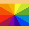 rainbow color radial background abstract colour vector image vector image