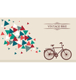 Retro hipster bicycle with geometric elements vector image vector image