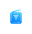router icon pictogram on white vector image