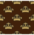 Seamless background pattern of a heraldic crowns vector image vector image