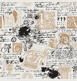 seamless pattern on a writers theme with sketches vector image