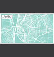 seville spain city map in retro style outline map vector image vector image