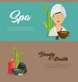 spa beauty and health poster vector image