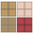 tartan royal stewart plaid seamless texture set vector image