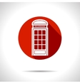 telephone box icon Eps10 vector image vector image