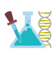 test tube dropper dna vector image vector image