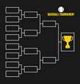 tournament bracket baseball championship scheme vector image