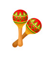 two brightly colored maracas symbol of mexico vector image