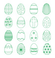 various outline Easter eggs design collection vector image vector image