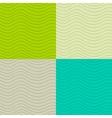 Wavy seamless patterns set vector image vector image