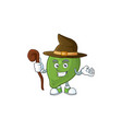 witch cute fruit lime for tasty ingredient vector image vector image