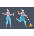 women workers cleaning company vector image