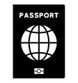 World Passport Flat Icon vector image