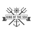 Yacht club badge logo label vector image vector image
