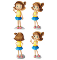 Different moods of a young girl vector image