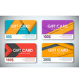 Set of gift cards in the style of the material vector image