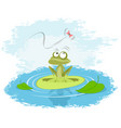 frog on a lily vector image