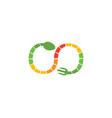 food logo template vector image
