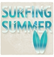 surfing beach summer background vector image